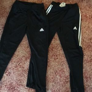 Two adidas jogger pants
